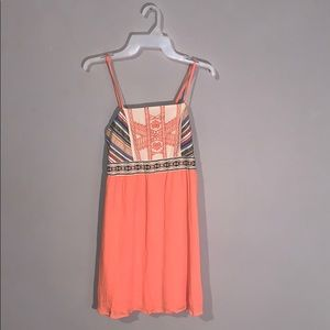 Orange Dress with Patterned Top